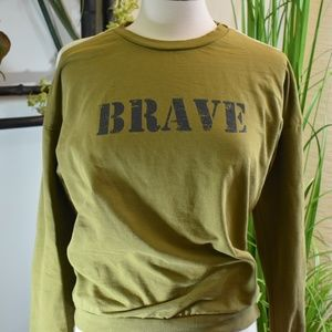 Zara light weight sweatshirt BRAVE
